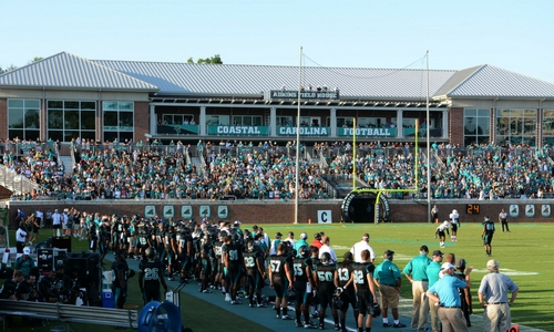 Coastal Carolina Football Is The Only College Game In Town Caribbean Resort Myrtle Beach Sc