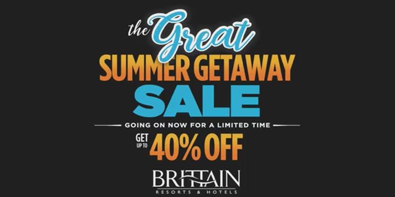 Great Summer Getaway Sale